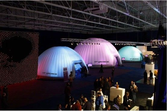 A pair of 10m Domes plus one 14m Dome can really make an #exhibition of themselves http://www.brandinteractivation.com/