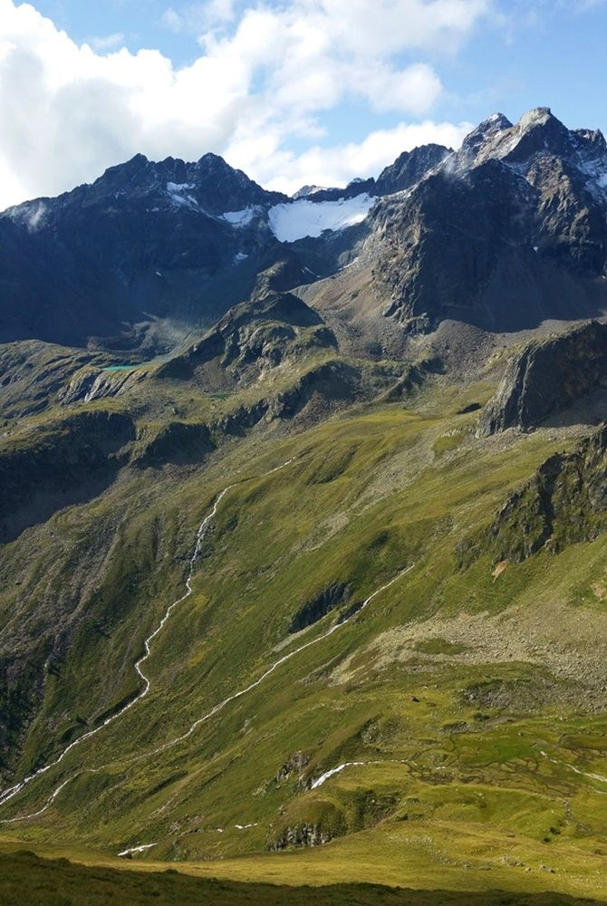 Prächtige Kulisse für den 4-Seen-Marsch - 14 km Wanderung im Ötztal in Tirol/ Österreich