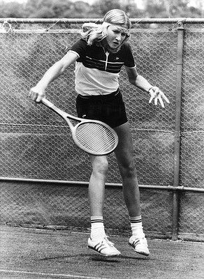 Fourteen-year-old Steffi Graf plays in her first Australian Open in 1983.  #tennis  #ausopen