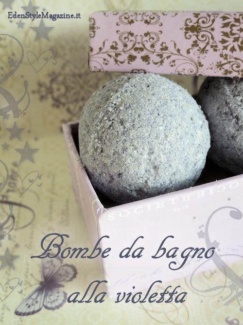 bombe bagno violetta