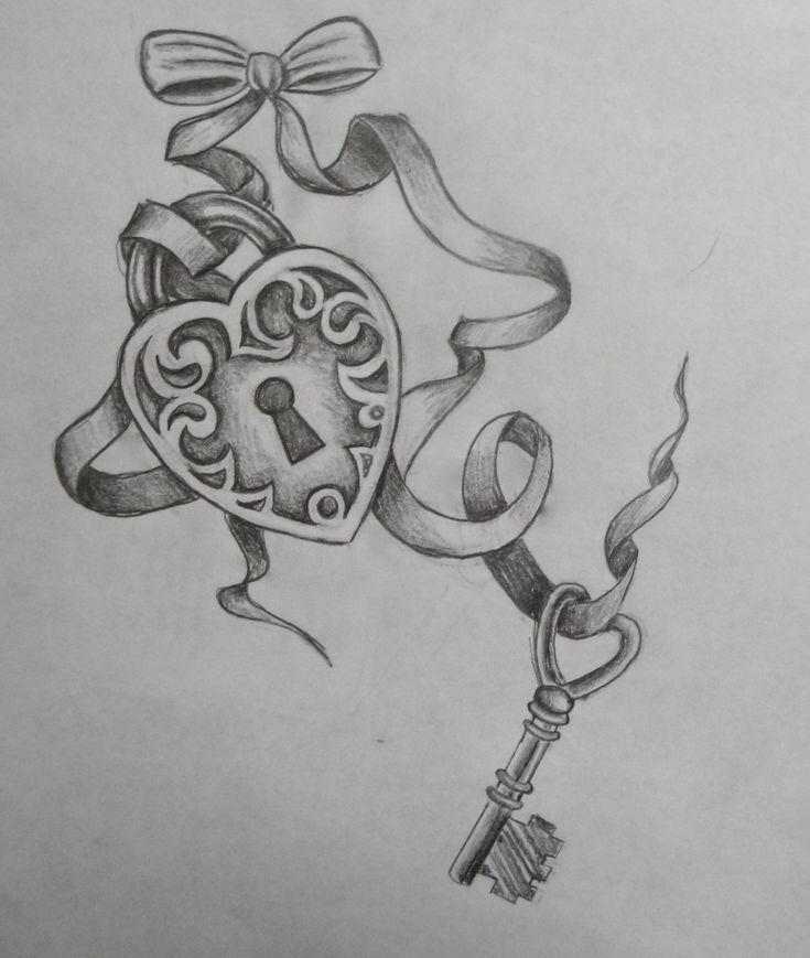 Key To My Heart Tattoos | Key Tattoo Designs