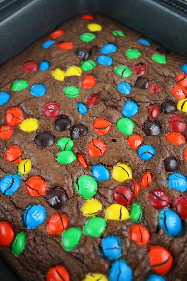Nutella m&m brownies