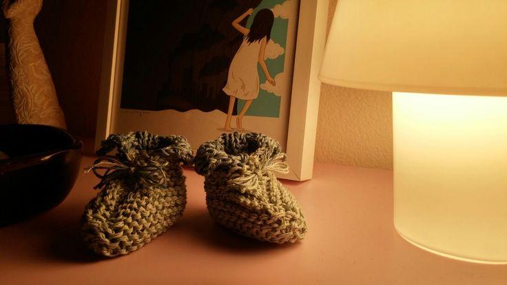 Babychaussons crée par les Sisters in Wool