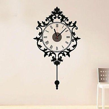 Still Life European Pattern Clock Wall Stickers – AUD $ 20.06