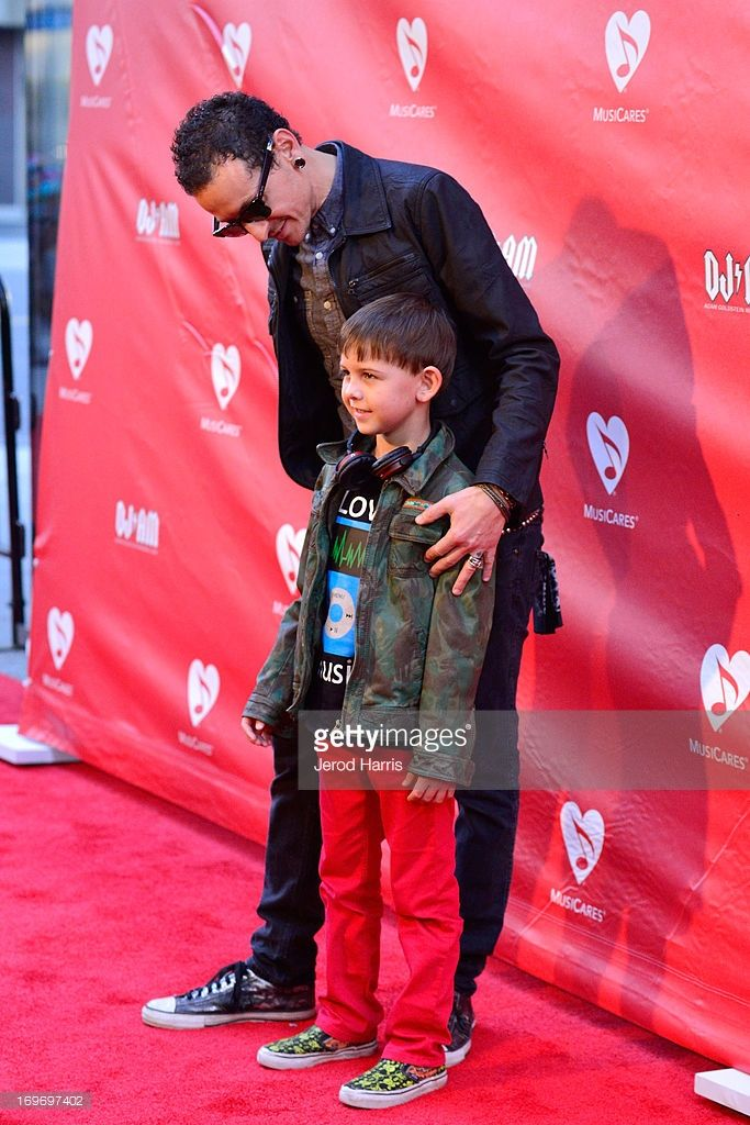 Chester Bennington and son Tyler Lee Bennington arrive at the 9th Annual MusiCares MAP Fund Benefit Concert at Club Nokia on May 30, 2013 in Los Angeles, California.
