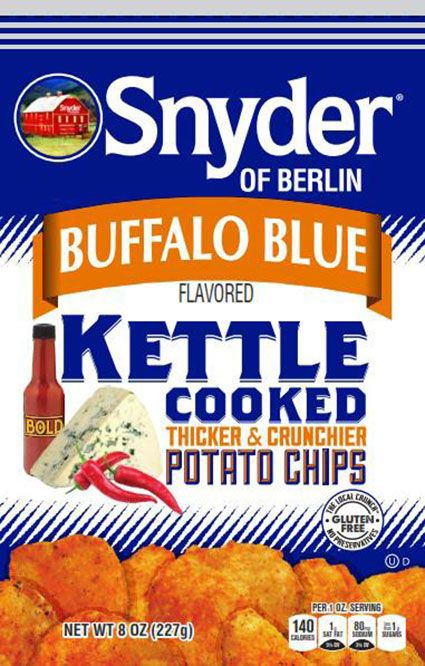 Food Recall Warning - Snyder of Berlin Buffalo Blue Kettle Cooked Potato Chips Recalled Due To Possible Salmonella Contamination