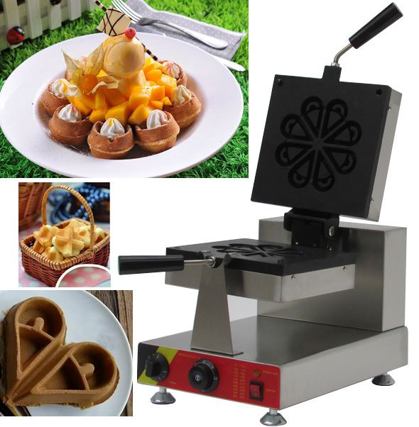 Flower Rotate waffle making machine ;stainless steel industrial waffle maker machine for sale #Affiliate