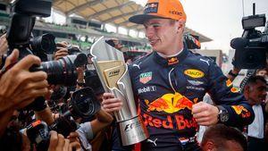 Max Verstappen als 2-voudig GP-winnaar.