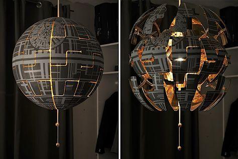 """Wenn du deine Fantasie ein bisschen spielen lässt, dann kannst du in der IKEA-Lampe PS 2014 den Todesstern aus """"Star Wars"""" erkennen. Die deutsche Bloggerin Maria alias Lylelo tat dies zumindest und gestaltete die Lampe kurzerhand in die ikonische Raumstati"""