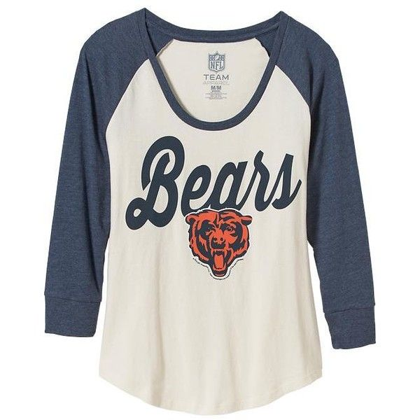 Old Navy Womens NFL Team Tee ($28) ❤ liked on Polyvore featuring tops, t-shirts, shirts, fitted tee, old navy tees, raglan tee, old navy shirts and logo tee
