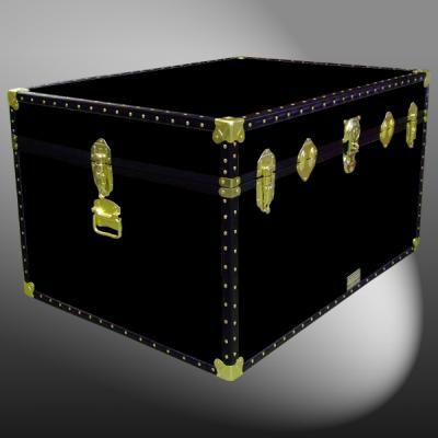 01-144 R BLACK Super Jumbo Storage Trunk with ABS Trim