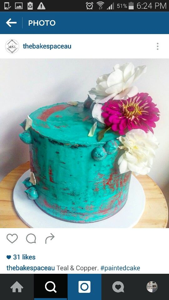 Teal and copper