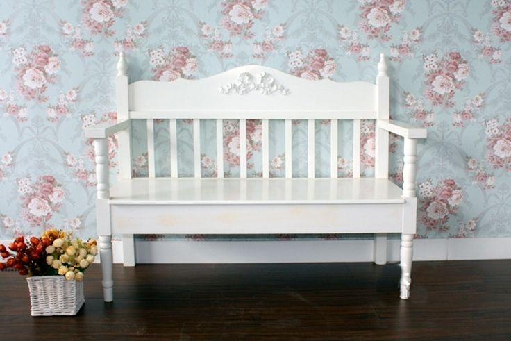 Специальный идиллической белый деревянный балкон корейский случайные обед принцесса любовника стул деревянный стул диван двойной скамейке - ...