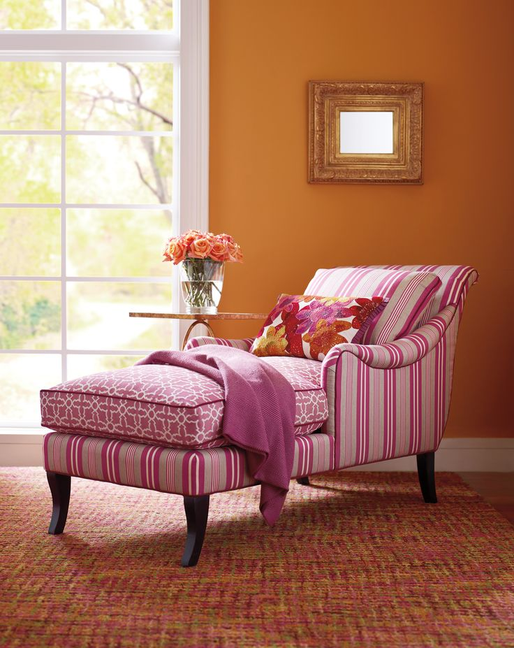 A #chaise Is A Wonderful, Feminine Luxury, And This One, With Its