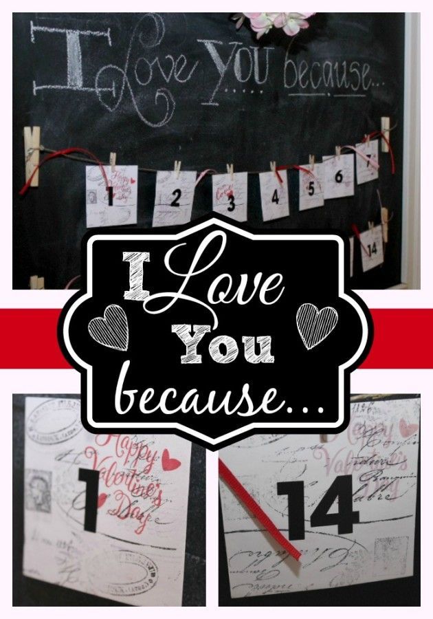 Valentine Message Calendar-from The Everyday Home
