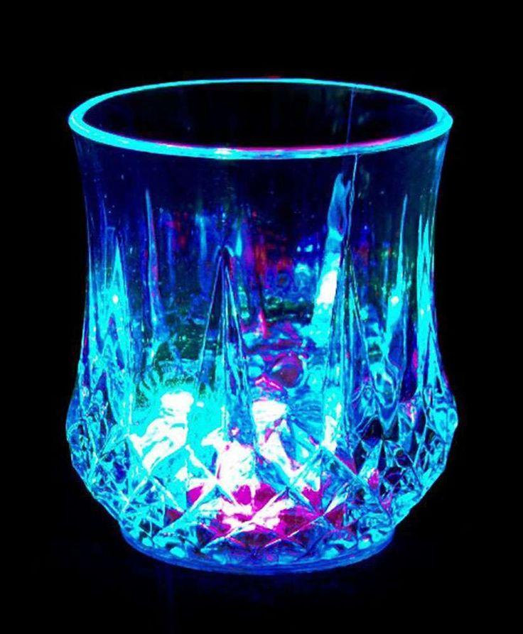 LED Gadget Cocktailglas Whisky Glas Party Gläser  Silvester Leuchtgläser Spass