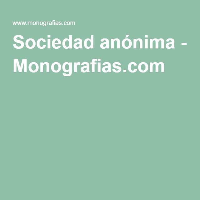 Sociedad anónima - Monografias.com