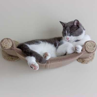 Cat Hammock – Cama para gatos montada en la pared – Tan