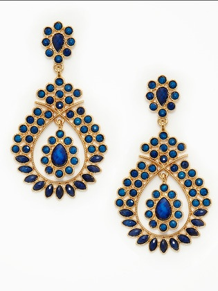 Breese teardrop earings. I'd wear this with a plain white button-down and jeans...they speak for themselves.