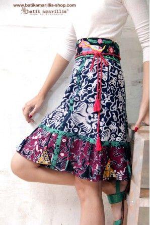 batik amarillis's arcana mini skirt-PO (excluded obi belt)