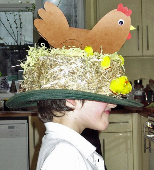 "Did we hear you say ""bonnets aren't for boys""?  Not so!  These great ideas from Thinly Spread make wonderful Easter Bonnets for both boys and girls, so everyone can have fun at the parade!"