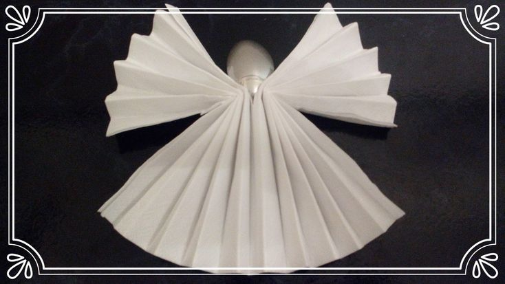 servietten falten engel servietten falten f r anf nger. Black Bedroom Furniture Sets. Home Design Ideas