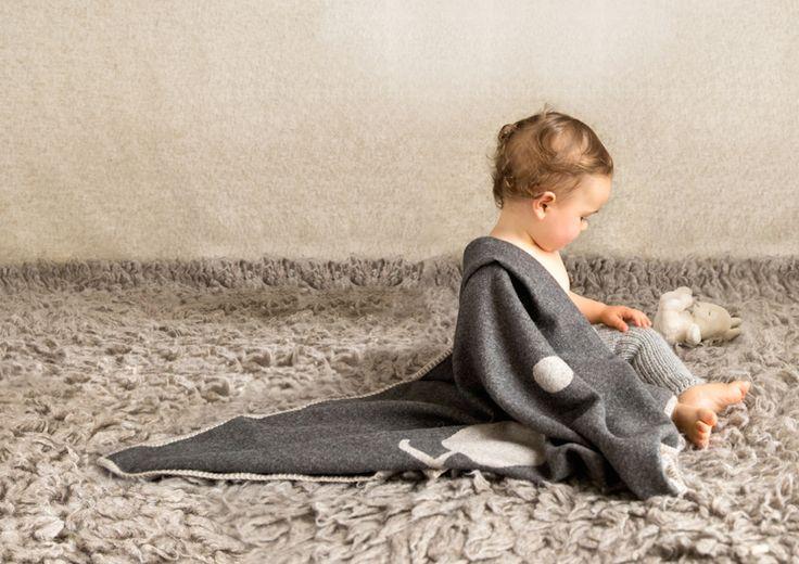 A big bear hug for your litte one.  Premium Baby Alpaca  POLAR BEAR blanket does the job!