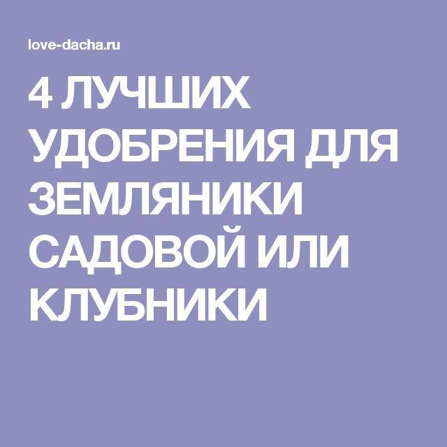 4 ЛУЧШИХ УДОБРЕНИЯ ДЛЯ ЗЕМЛЯНИКИ САДОВОЙ ИЛИ КЛУБНИКИ