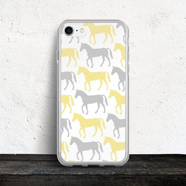 Yellow and Gray Horse Pattern iPhone 7/7 Plus Case