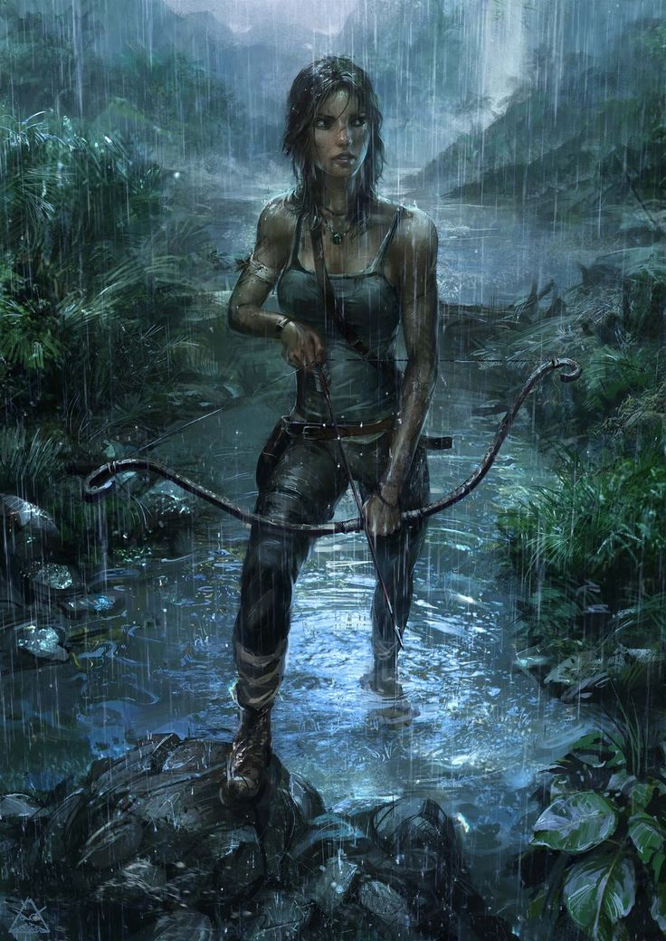 """Tomb Raider - Lara Croft"" There is something awkward about Lara...but the mood, the colors, the details, stunning."