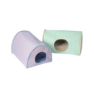 K & H Soft, luxurious micro fleece interior Kitty Camper Indoor Cat Bed - Sage