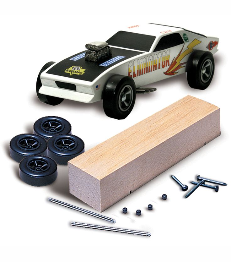 Pinewood Derby Car Kit - Basic