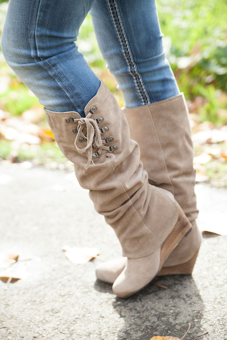 NEW After Summer Boot | Naughty Monkey | Lace Up Boot | Wedge | Taupe Boots | Shop Hoity Toity