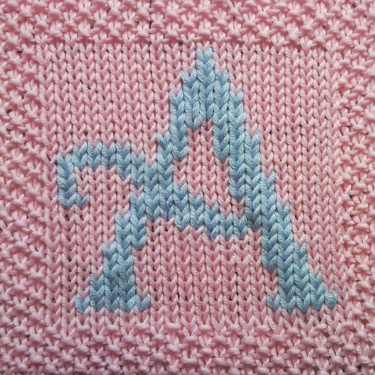 The 7 Best Knitted Letters Images On Pinterest Hot Pads Knitting