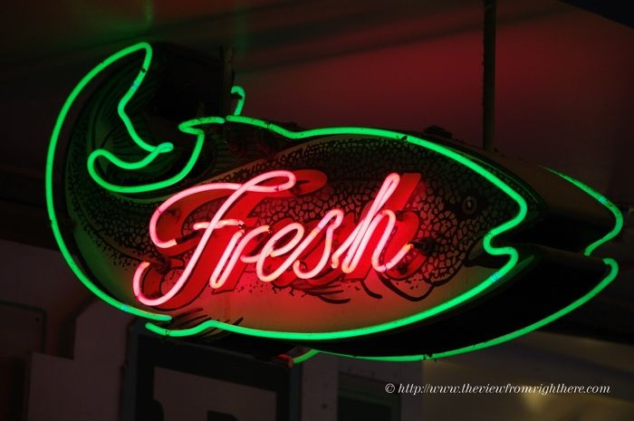 Fresh Fish Neon - Pike Place Market