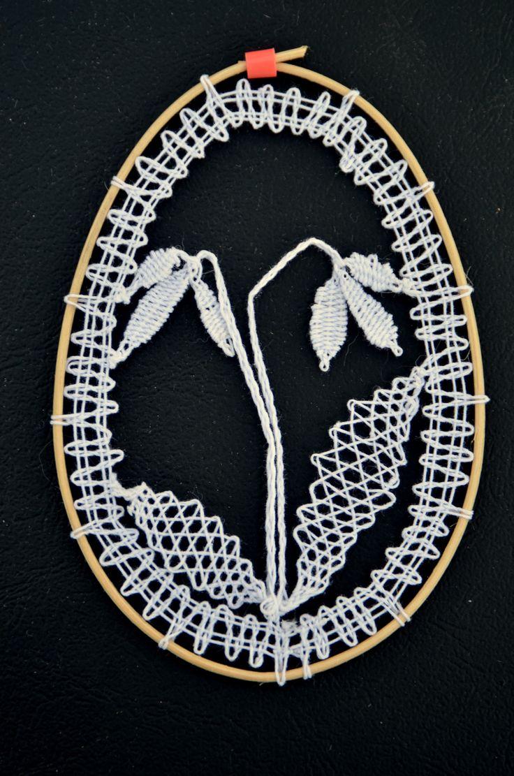 paličkované velikonoční vajíčko/ bobbin lace easter egg ornament