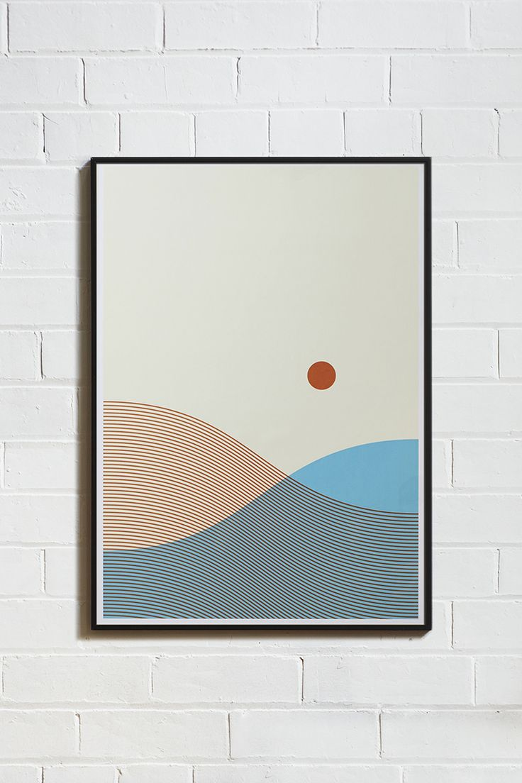 Poster design nottingham - From Land And Sea Framed Hand Pulled Screen Print