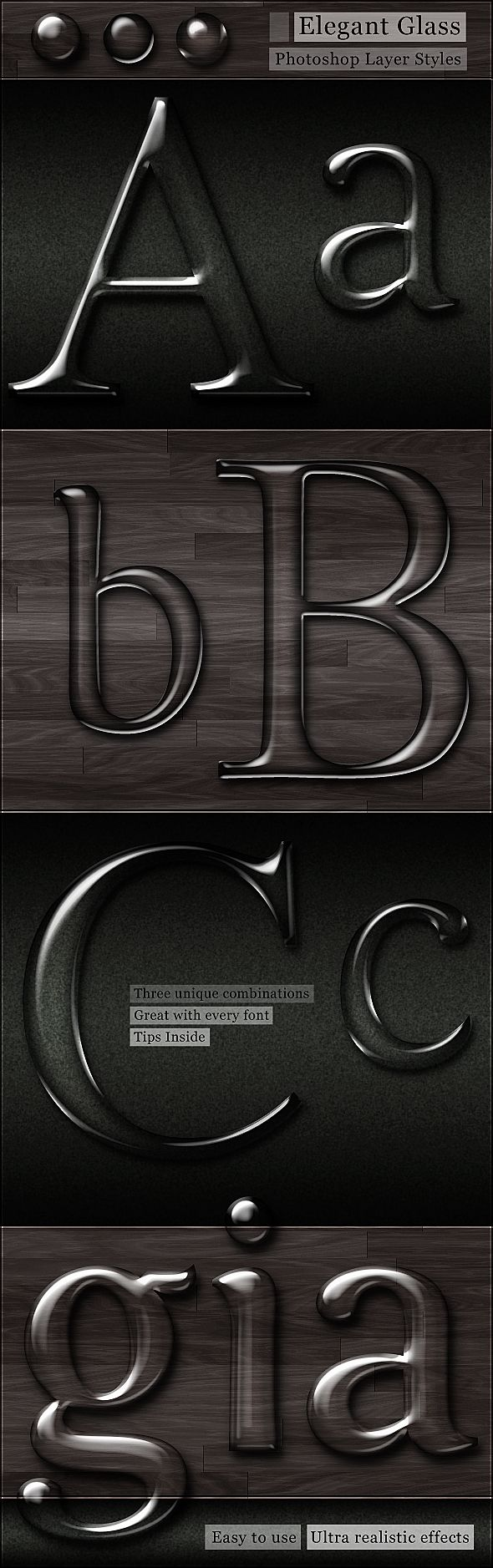 Free Glass Photoshop Styles by Giallo86 (Gianluca Giacoppo) Giallo86.deviantart.com on DeviantArt http://www.deviantart.com/