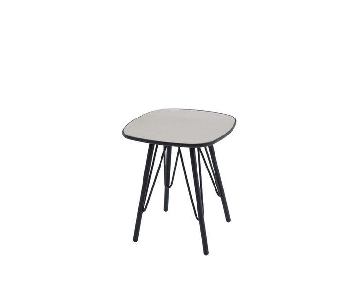 Tavolo basso con piano in fibrocemento 40x40