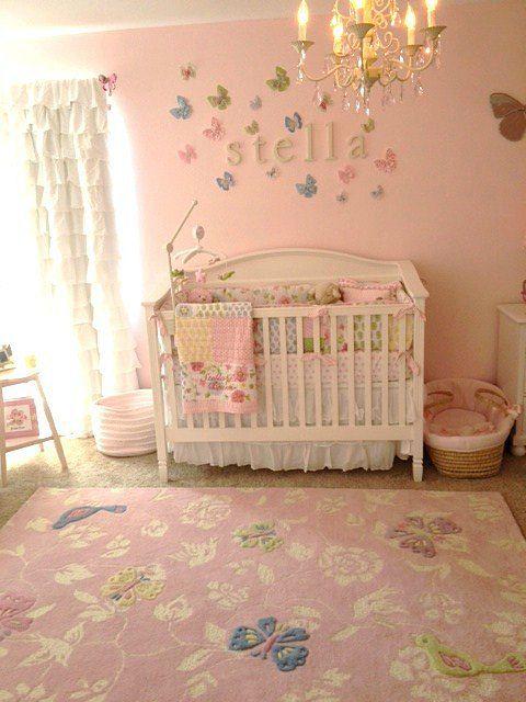 Decoracion mariposas 3 habitaciones bebe ni a - Habitaciones bebes nina ...
