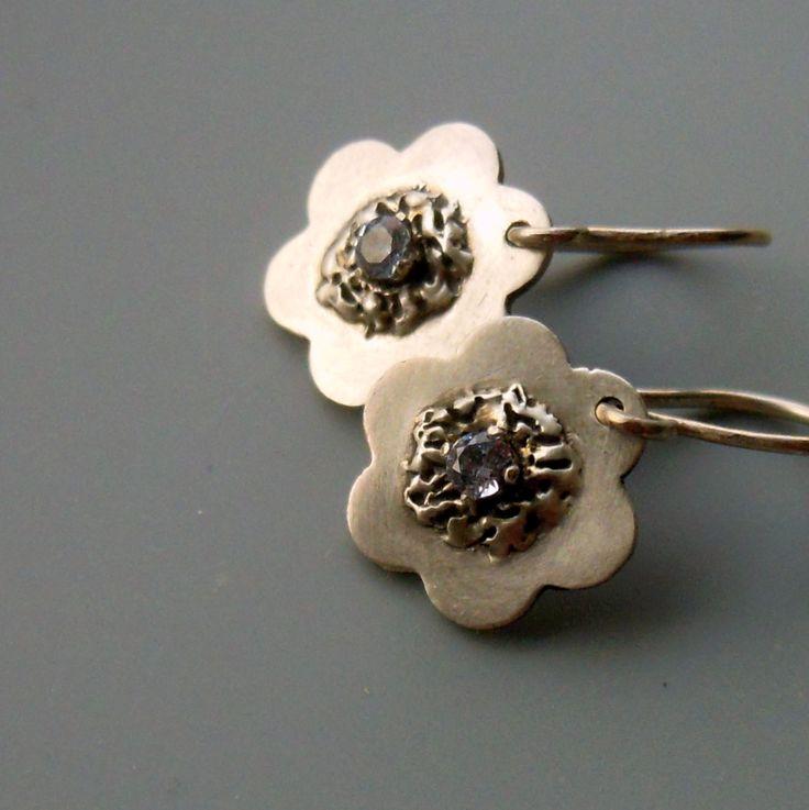 Květy s akvamaríny ::ag925::