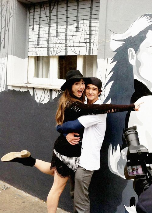 Crystal Reed and Tyler Posey