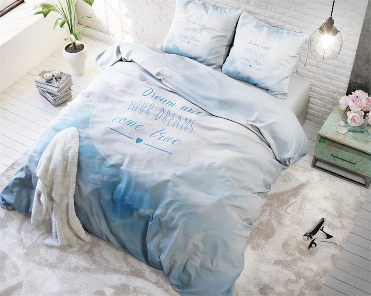 Błękitna podwójna pościel holenderska 200x220 Dream Blue