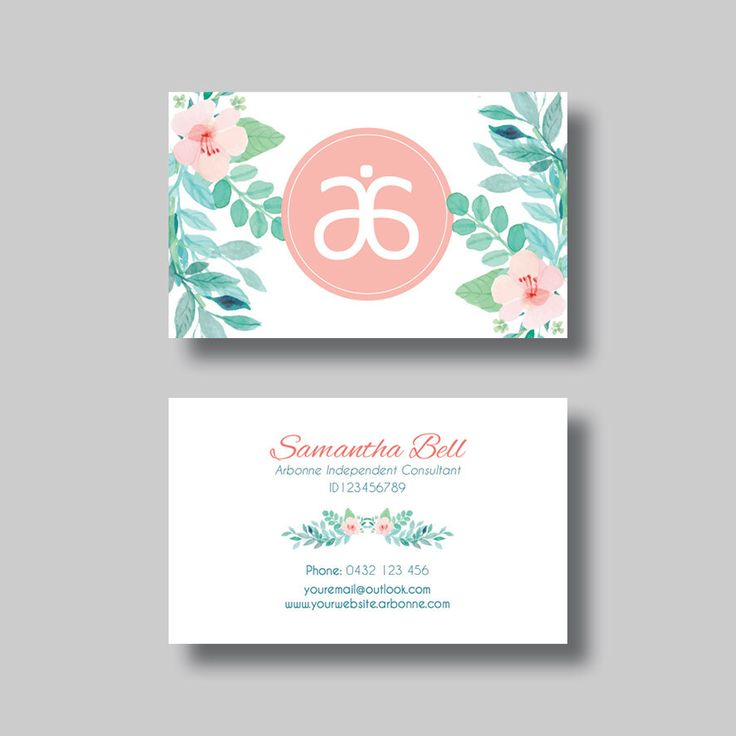Arbonne Business Card (Floral 2.0) - Digital Design by BellGraphicDesigns on Etsy https://www.etsy.com/au/listing/292569861/arbonne-business-card-floral-20-digital