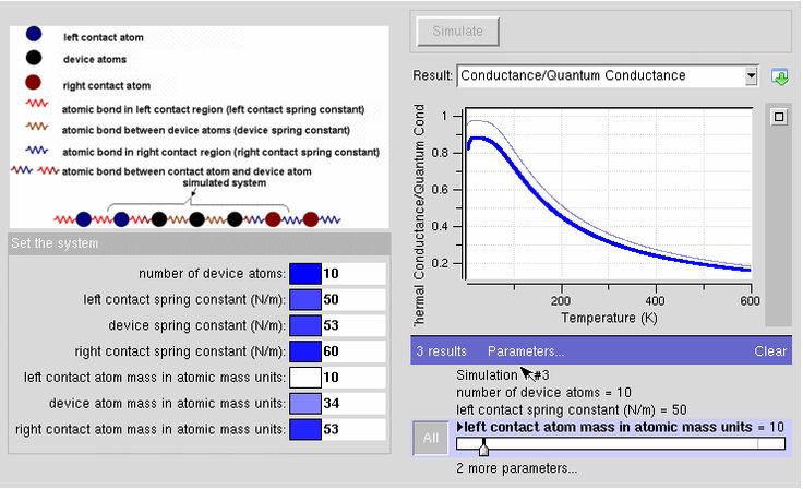 #nanoHUB.org - Atomistic Green's Function Method 1-D Atomic Chain Simulation: Calculation of Thermal Conductance of an Atomic Chain