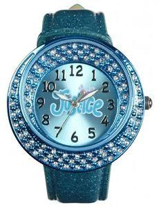Jusice jewelry for girls | Justice Girls Aqua Oversize Jewel Bling Dial Face Glitter Wrist Watch ...
