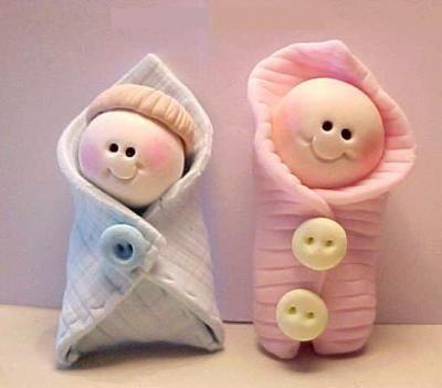 souvenirs nacimientos bautismos 1er añito porcelana fria By Maria Elena Lopez