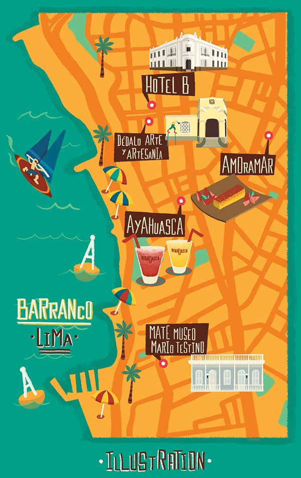 Map of Barranco, Lima - Raul Gozalez -rulascalaca