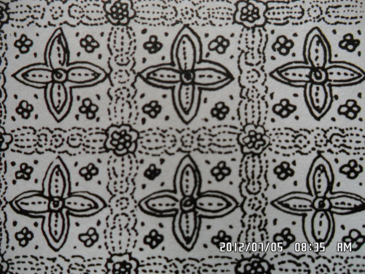 132. Classic batik floral motifs: Jayakirana. Jaya=victorious, lucky, powerful, with supernatural powers. Kirana=to shine, ray. Jaya kirana=renowned power.