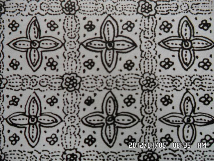 132. Classic batik floral motifs: Jayakirana. Jaya=victorious, lucky, powerful, with supernatural powers. Kirana=to shine, ray. Jaya kirana=renowned power.